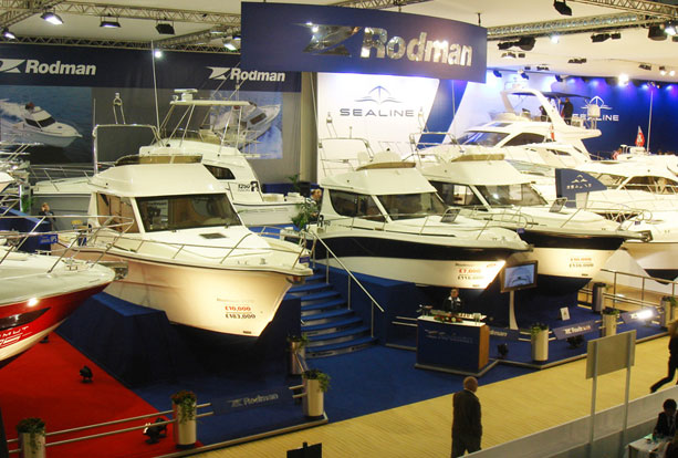Large yachts on Rodman Exhibition Stand